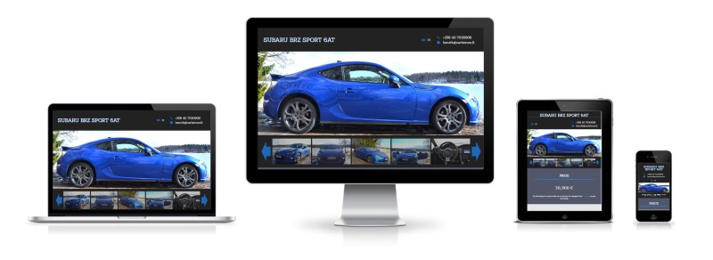 BRZ Sport Car website's responsive mobile, tablet, laptop and desktop view