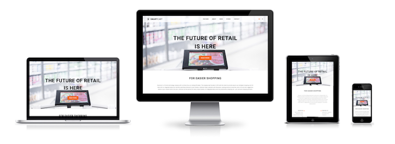 Smartcart website's responsive mobile, tablet, laptop and desktop view